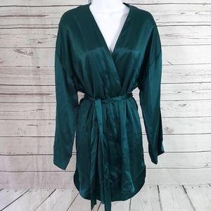 Victoria's Secret vintage green silk kimono robe